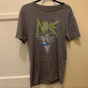 Nike grey graphic t shirt